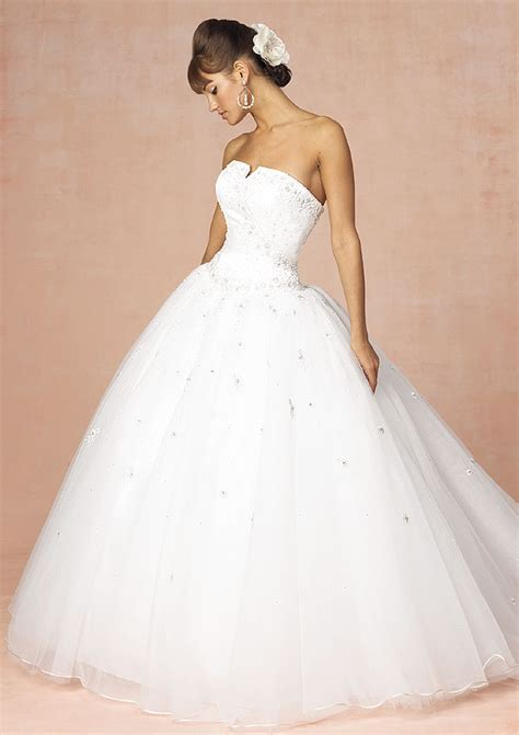 princess strapless wedding dress with ball gown sang maestro