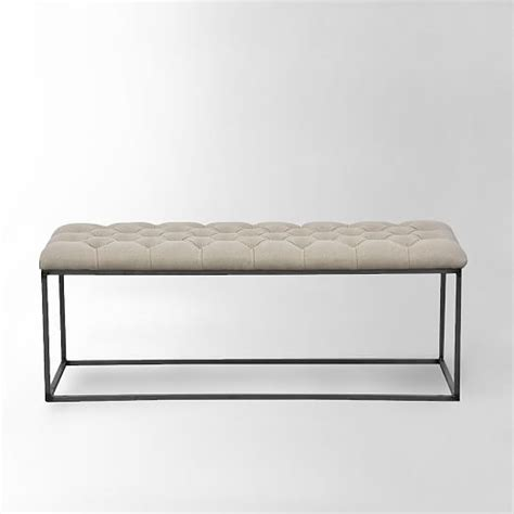 tuffed bench tufted bench west elm