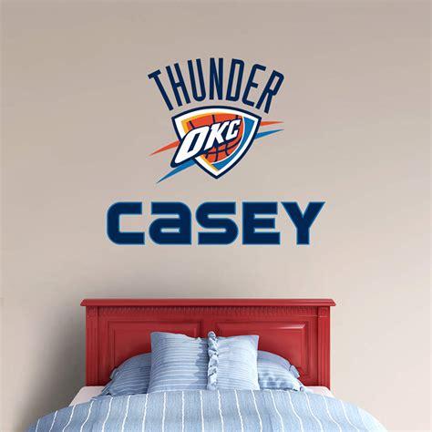 okc thunder bedroom decor oklahoma city thunder stacked personalized name wall decal