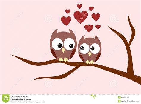 owl lovers love owls couple vector illustration cartoondealer com