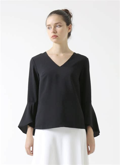 Bell Sleeve Top Original buy original cloth inc bell sleeve top at indonesia bobobobo