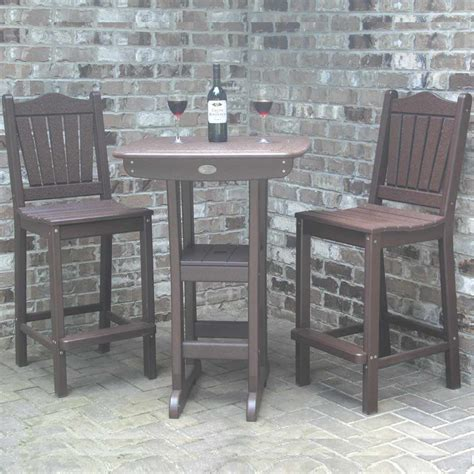 Bar Height Bistro Table Outdoor Bistro Dining Table Bar Height Dfohome