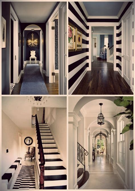 black and white home interior 1000 ideas about striped hallway on hallway