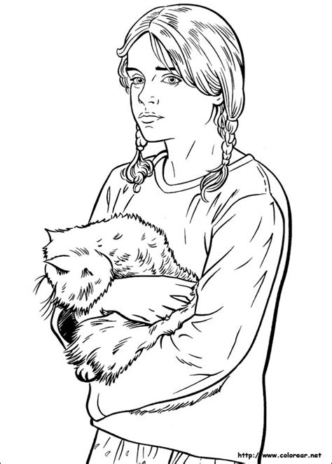 free coloring pages of ginny weasley