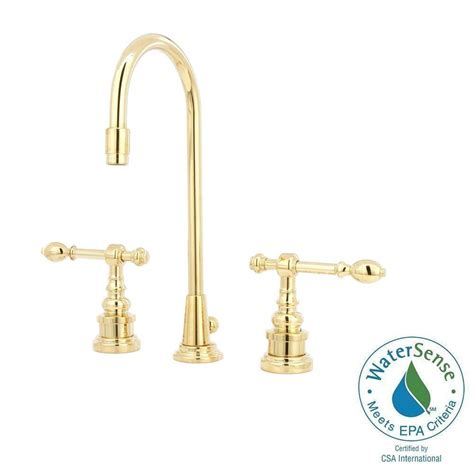kohler iv georges brass 8 in widespread 2 handle high arc