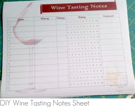 wine tasting template cards best 25 wine tasting notes ideas on wine