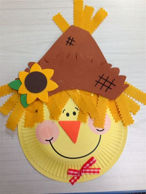 Paper Plate Scarecrow Craft - 1000 ideas about scarecrow crafts on fall