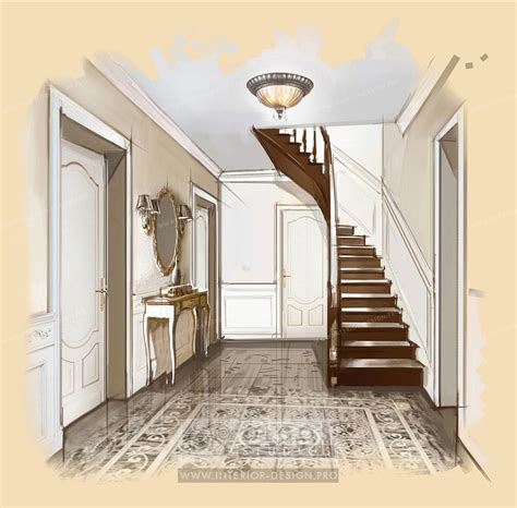 Cottage Home Interiors by Hallway Interior Design Visualisations Hall Design