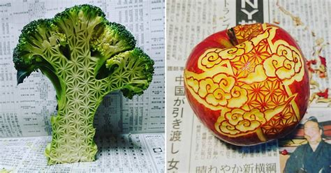 fruit 9gag next level food carving on fruits and vegetables by gaku