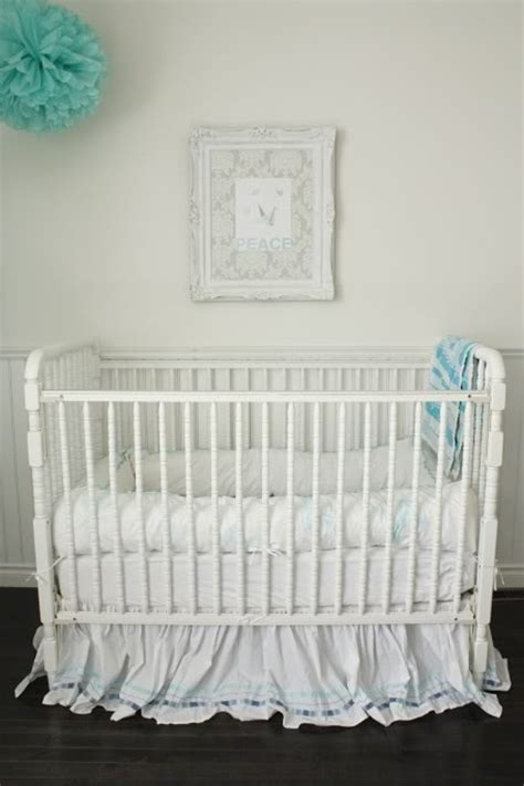 Adorable And Impressive White Themed Baby Nursery Room Baby White Cribs