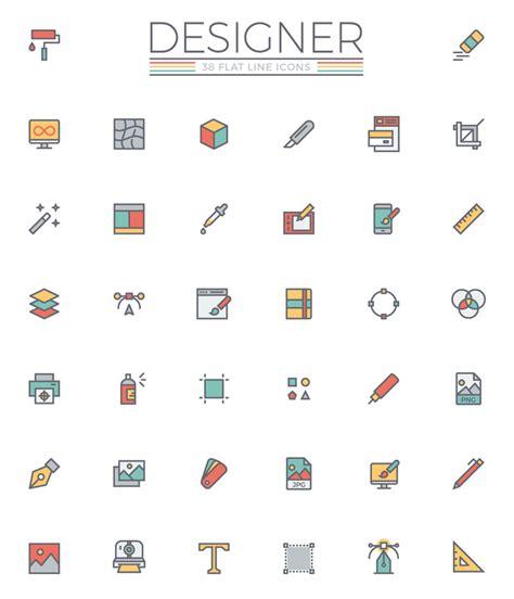 icon design daily freebie the flat line designer icon set