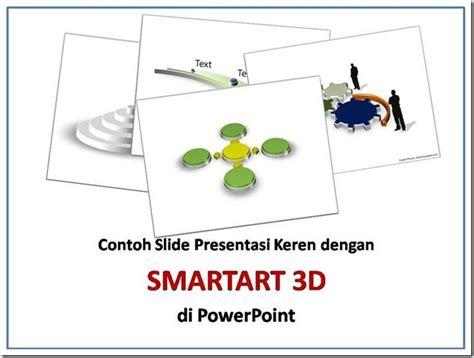 cara membuat power point kreatif presentasi keren dengan smartart 3d di powerpoint