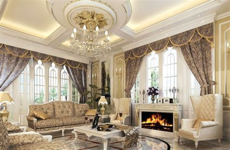 Luxury Living Room Designs by Fascinating European Living Room Ceiling Design