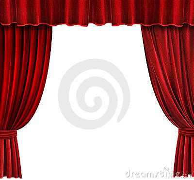 Red Velvet Theater Curtains Royalty Free Stock Photo