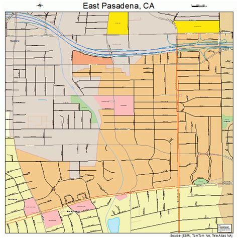 pasadena california map east pasadena california map 0620984
