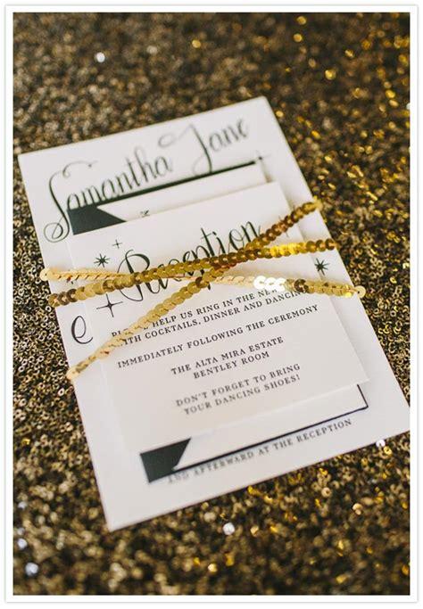 black white and gold wedding invitations sultry roil black white gold new year s wedding ideas