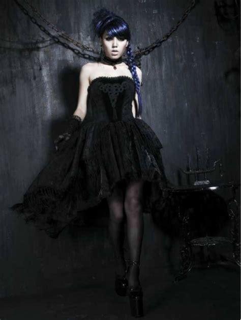 black floral pattern tassel high  gothic party dress