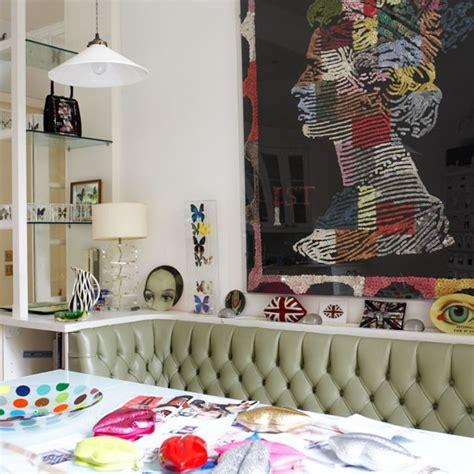 eclectic dining room decorating ideas  lulu guinness