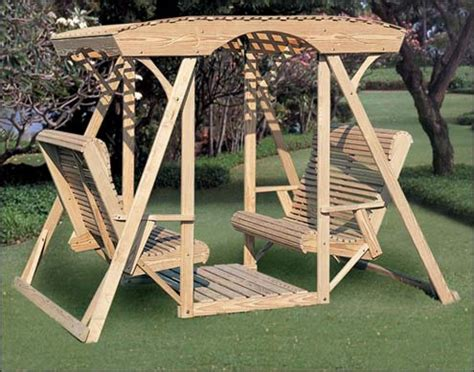 lawn glider swing benches gliders simple home decoration