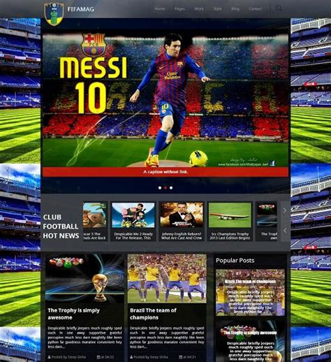 templates for blogger sports fifamag responsive blogger template 187 abtemplates com
