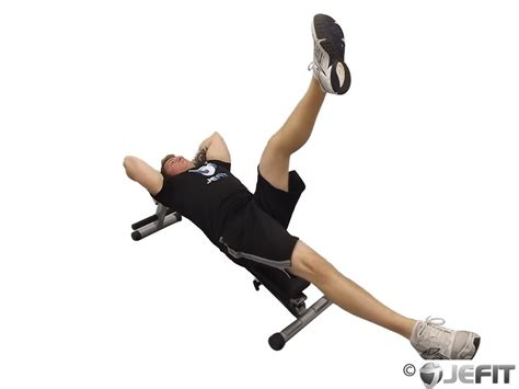 leg raise on bench decline bench alternate leg raise exercise database