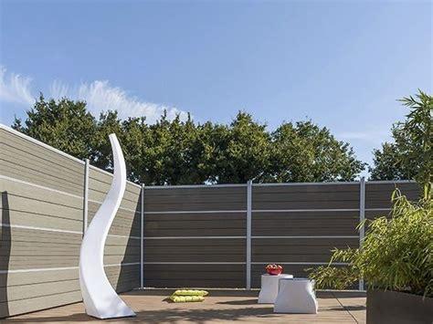 cloison jardin cloison de jardin en bois composite lame ecran claustra by silvadec