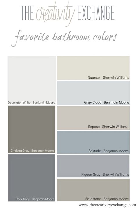 Benjamin Paint Colors For Bathrooms by Favorite Bathroom Wall And Cabinet Colors Paint It Monday