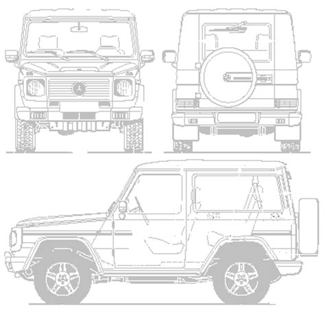 G Wagon Sketches by Car Blueprints Mercedes G Blueprints Vector