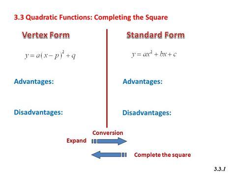 math 20 1 chapter 3 quadratic functions ppt