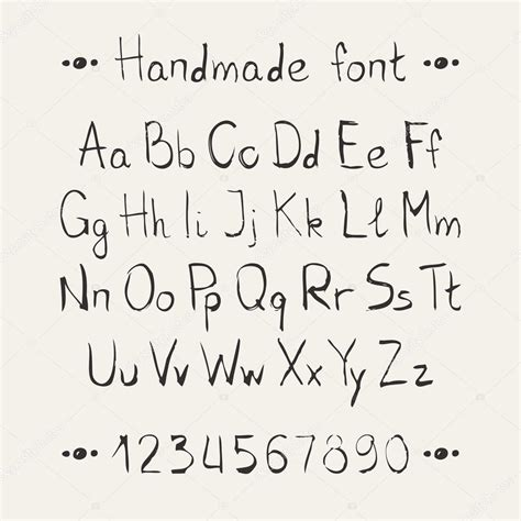 hand drawn lettering tutorial illustrator simple monochrome hand drawn font complete abc alphabet