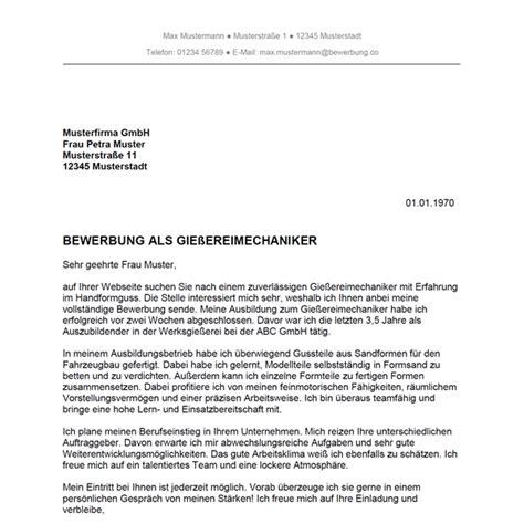Bewerbungsschreiben Vorlagen Als Verkäuferin Bewerbung Als Gie 223 Ereimechaniker Gie 223 Ereimechanikerin Bewerbung Co