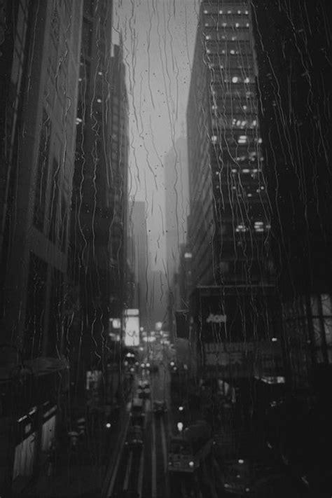 (26) Tumblr window, rain, black and white, city