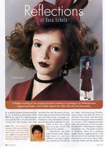 doll reader magazine article on vera scholz doll reader magazine may 1999 p