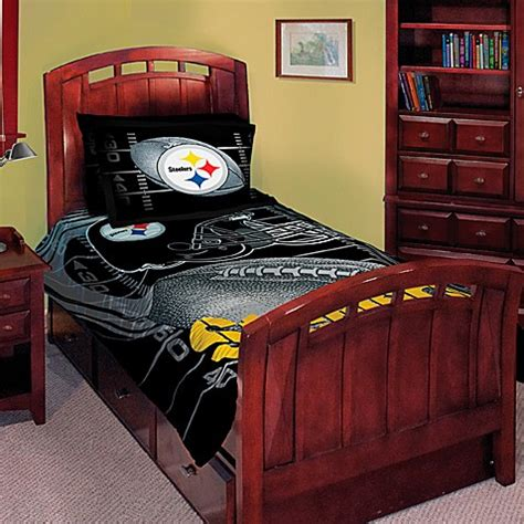 bed bath and beyond pittsburgh nfl pittsburgh steelers twin full comforter set bed bath