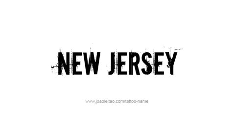 new jersey tattoos designs new jersey usa state name designs tattoos with names