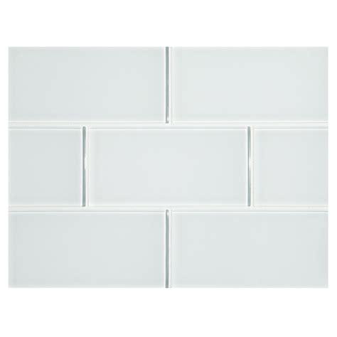phenomena glass tile zircon white 3 quot x 6 quot subway tile