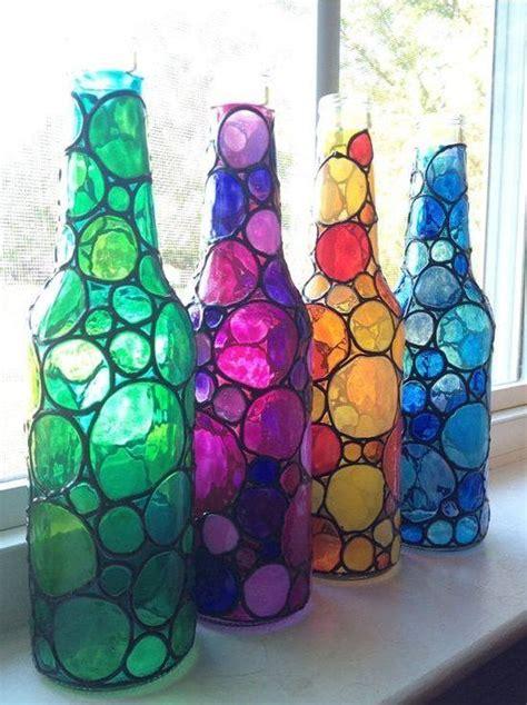 decorar botellas de vidrio vintage reciclaje ideas para decorar botellas de cristal o de
