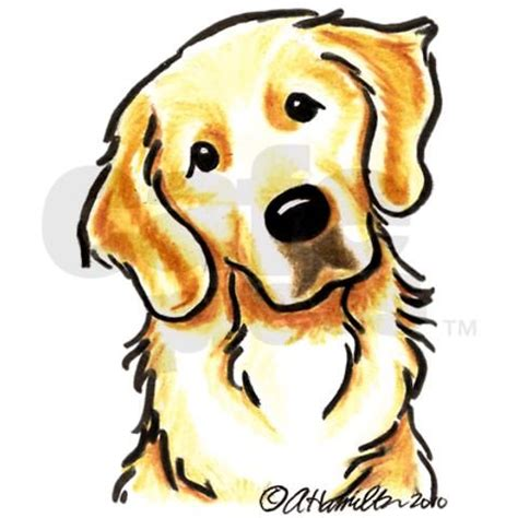 golden retriever clip clip golden retriever portrait cliparts