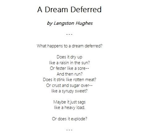biography langston hughes quizlet dream deferred poem by langston hughes poem hunter autos