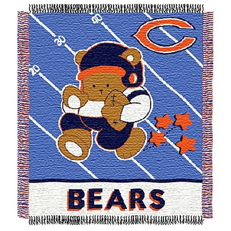chicago bears bedding nfl chicago bears woven jacquard baby blanket throw