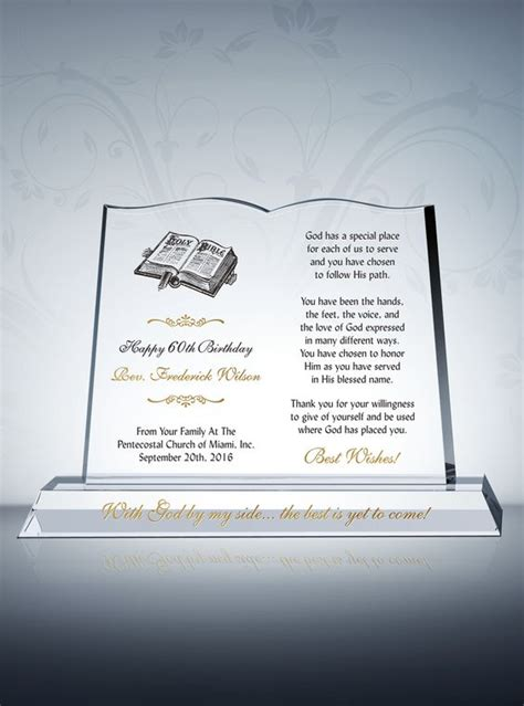 gift of the shaper book one of the highglade series books pastor birthday gift plaque open book shape