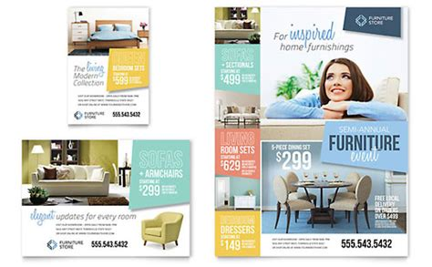 Home Furnishings Flyer Ad Template Print Ad Design Templates