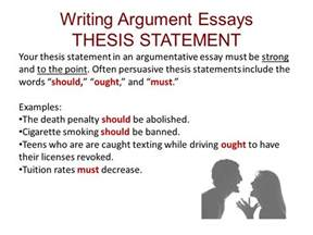 Writing A Thesis For An Essay by Ch 11 Reading And Writing Argument Essays Ppt
