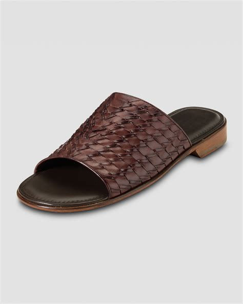 air sandals cole haan air tremont woven slide sandal in brown for