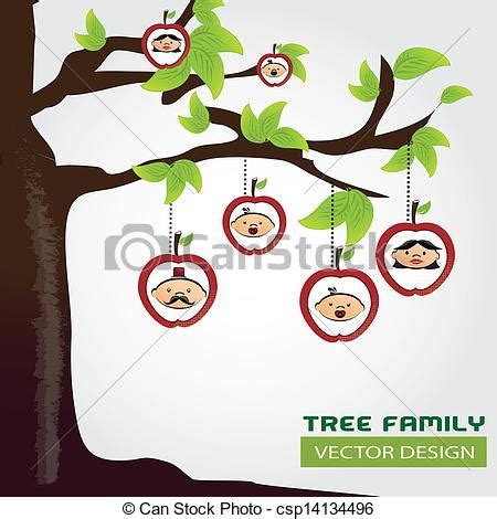 Family Tree Over Gray Background Vector Illustration Stock Vector Family Tree Template With Portraits Of Relatives And Place For Text On Green