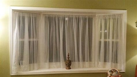 Tension Rods For Windows Ideas 17 Best Images About Bay Window Ideas On Bay Window Treatments Curtain Rods And