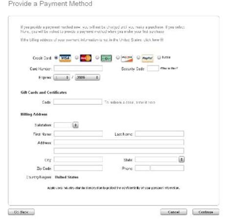 Credit Card Payment Form Template Uk step by step guide to register an itunes account without a