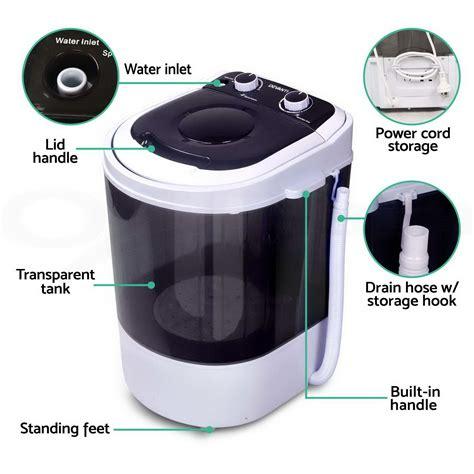 Cs 1085 2in1 Blue mini portable washing machine top load 2 in 1 spin cing caravan home 4kg 5kg ebay