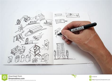 Small House Blueprints by Drawing Book Royalty Free Stock Image Image 1413376