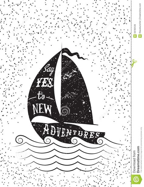 poster design inspiration vector say yes to new adventures hand drawn inspirational poster